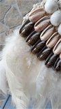 Schelpenketting feather light_
