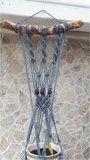 Plantenhanger boho grijsblauw_