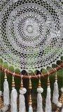 Dromenvanger pompom bamboe donker 60cm_