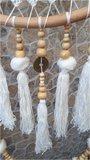 Dromenvanger pompom bamboe naturel 63cm_