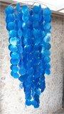 Schelpenlamp Capiz blauw_