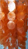 Schelpenlamp Capiz oranje_