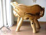 Teak houten boomstam bankje Tocon_