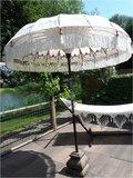 Ibiza/Bali parasol (off white, zilver)_