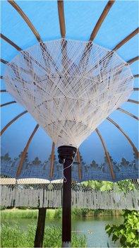 Ibiza/Bali parasol (blauw)
