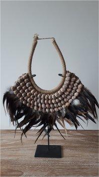 Schelpenketting feather dark