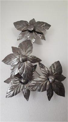 Wandpaneel metaal bloemen