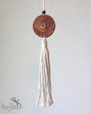 Rieten decoratie hanger Violeta