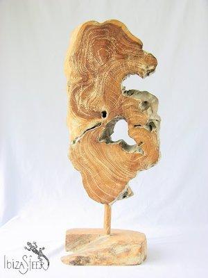 Teak houten ornament