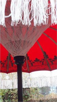 Ibiza/Bali parasol (Red Rose)