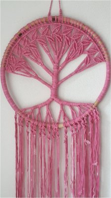 Tree of life bamboe pink XXL