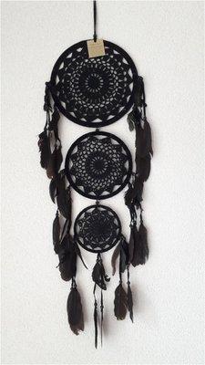 Dromenvanger driedubbel zwart S