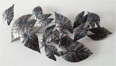 Wandpaneel metaal bladeren XXL