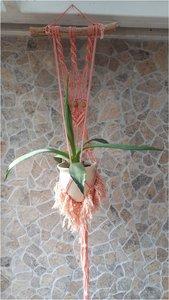 Plantenhanger boho pink