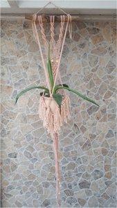 Plantenhanger boho zalm rose