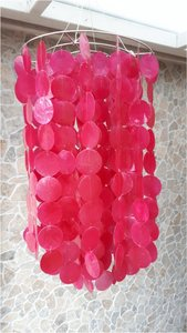 Schelpenlamp Capiz roze
