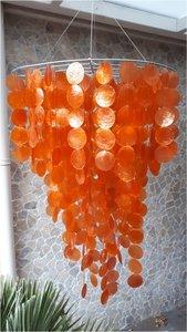 Schelpenlamp Capiz oranje