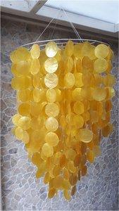 Schelpenlamp Capiz geel