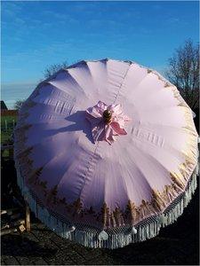 Ibiza/Bali parasol(roze/goud)