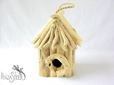 Vogelhuisje drijfhout vierkant