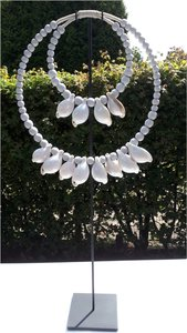 Schelpenketting double white